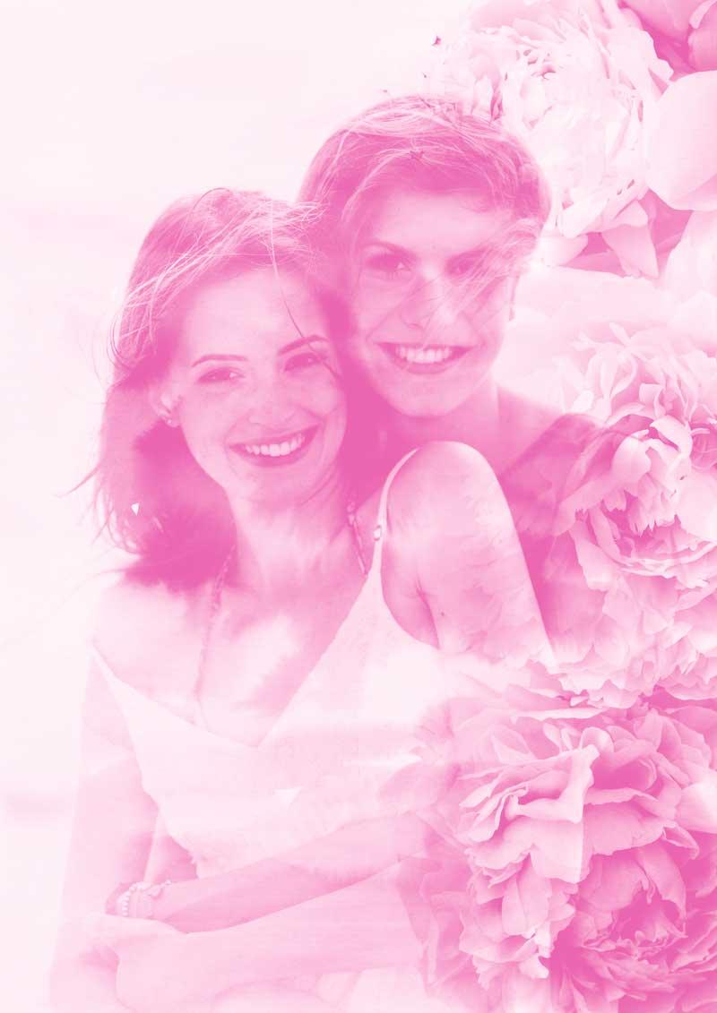 lesbische vrouwen valentijnsdag fotobewerking