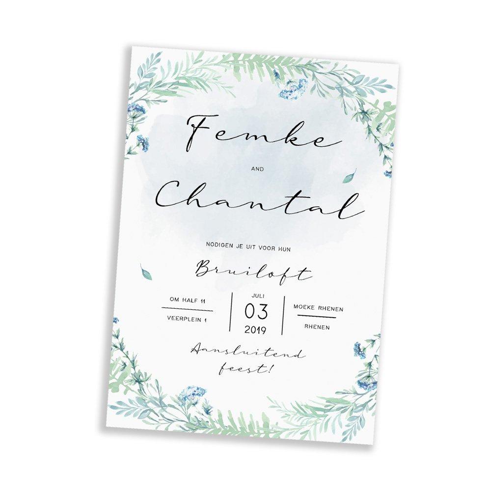 lieve-huwelijks-uitnodiging-bloemen