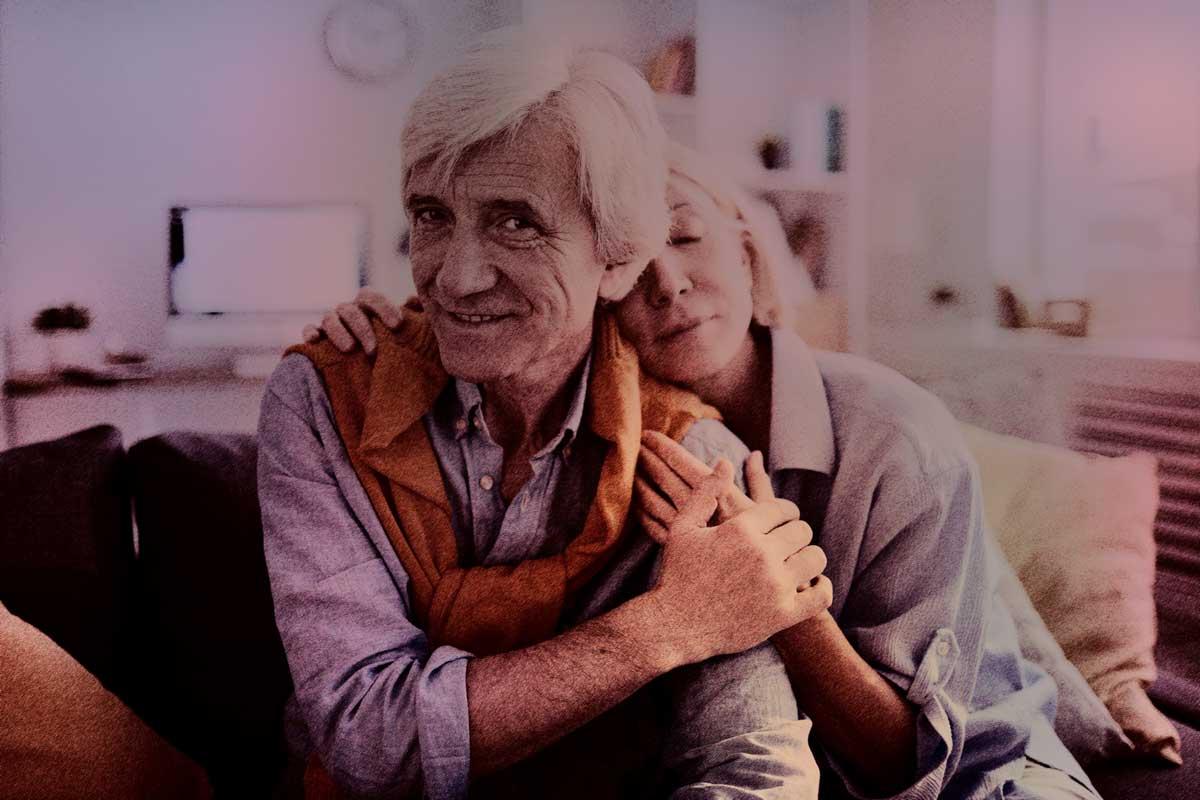 valentijnsdag ouder echtpaar fotobewerking