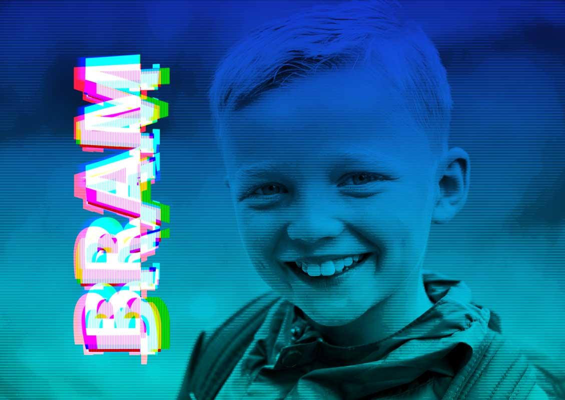 jongen foto bewerkt fotobewerking