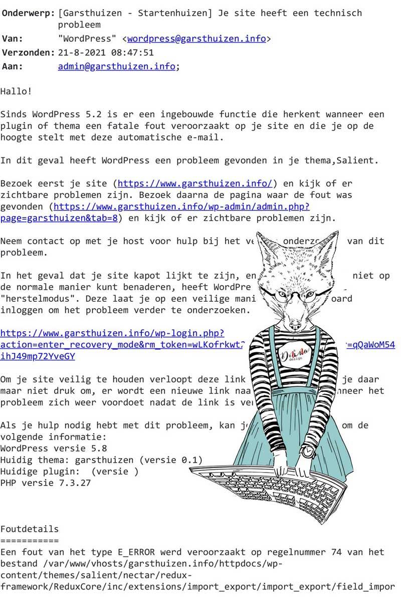 foutmelding-website